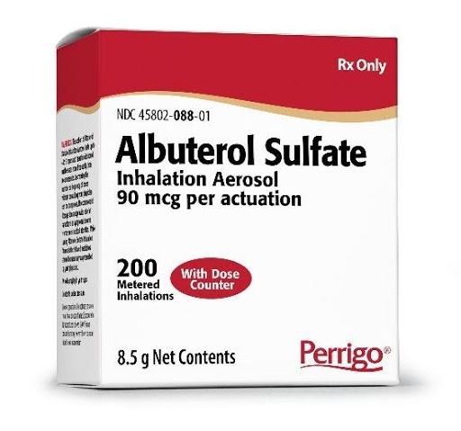 AR 200229421 NOTICE: Voluntary Recall of Unexpired Albuterol Sulfate Inhalation Aerosol from Perrigo